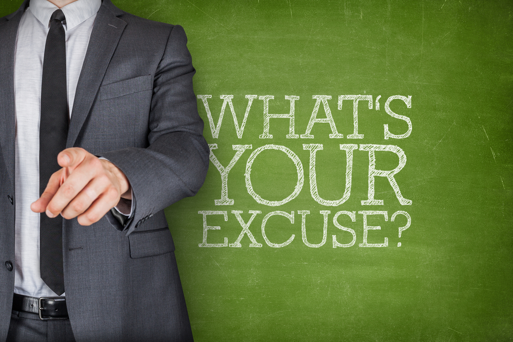 Beating the habit | What Excuses Do You Use?