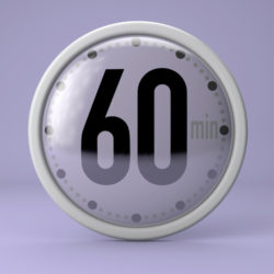 Time, clock, timer, stopwatch 60 minutes